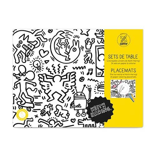 set de table a colorier keith haring - omy