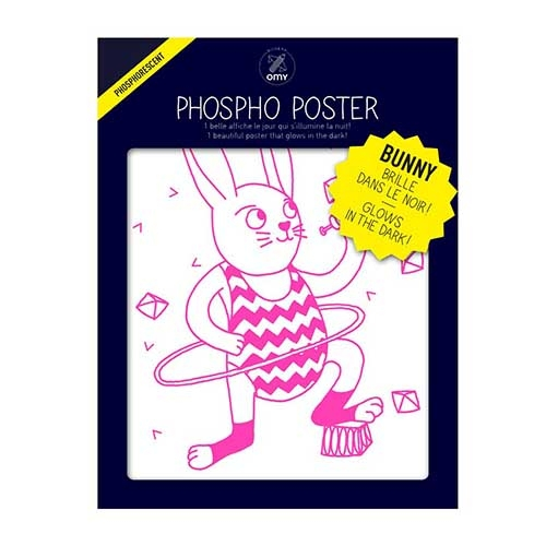 phospho poster - le lapin - bunny - omy