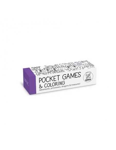 POCKET GAMES & COLORING - MAGIC - Omy