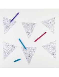 Guirlande fanion a colorier - Omy