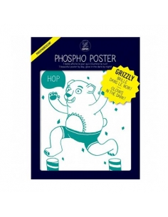 phospho poster - l'ours - grizzly - omy