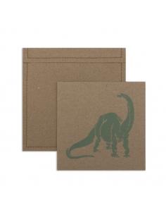 Lot de 6 invitations et enveloppes - dinosaure