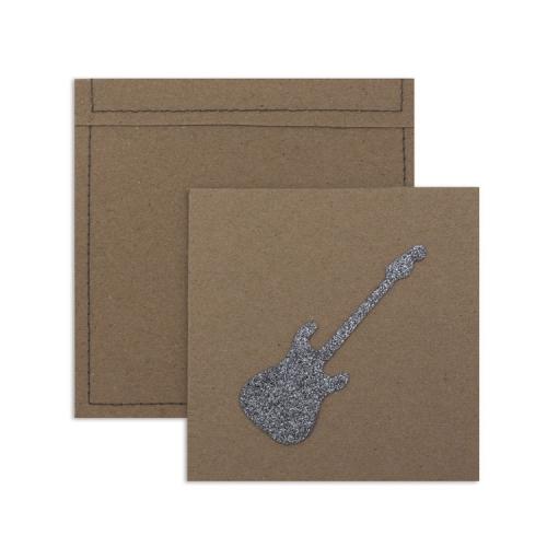 6 invitations et enveloppes - rock