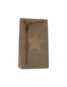 Lot de 6 pochettes kraft - Star