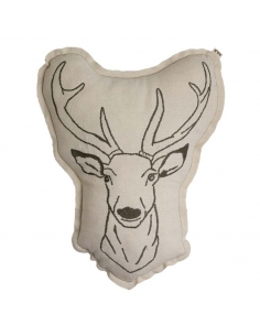 Coussin animal - Cerf