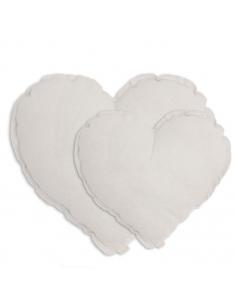 Coussin Cœur, Blanc
