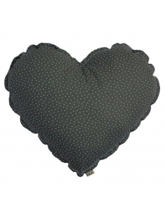 LARGE HEART CUSHION - STARS...