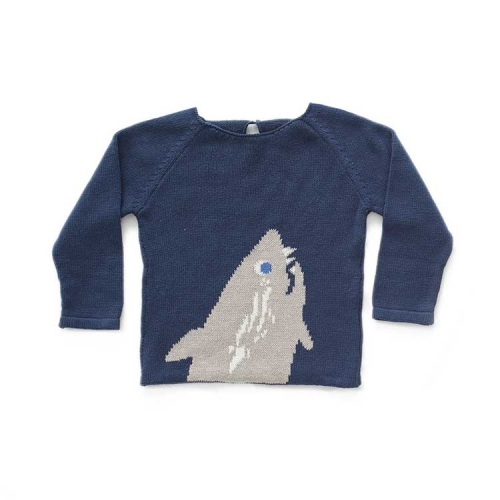 pull requin - bleu marine - oeuf nyc
