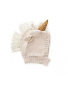 bonnet animal - licorne rose pale - oeuf nyc