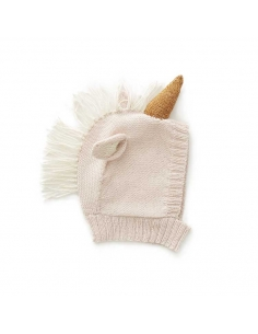 bonnet animal - licorne rose pale - oeuf nyc