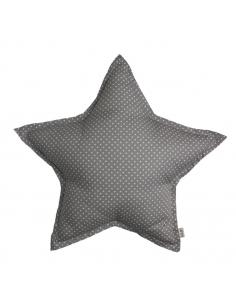 Coussin en forme d'étoile Pois, Marron