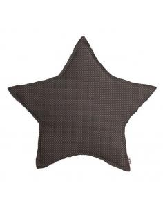 Coussin en forme d'étoile Pois, Taupe