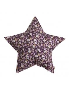 Coussin en forme d'étoile, imprimé Liberty Purple.