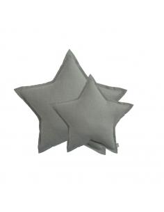 Coussin étoile, Tulle gris argent scintillant