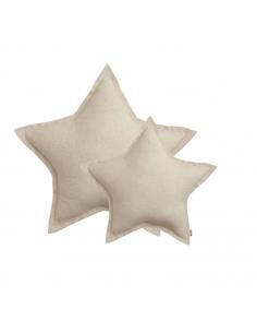 Coussin étoile, Tulle naturel scintillant