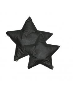 Coussin étoile, Paillettes anthracite
