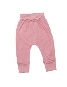 pantalon harem rose fonce a pois rouges - oeuf nyc