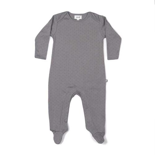 pyjama charbon de bois a pois noisette - oeuf nyc