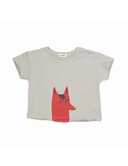 tee-shirt renard - oeuf nyc