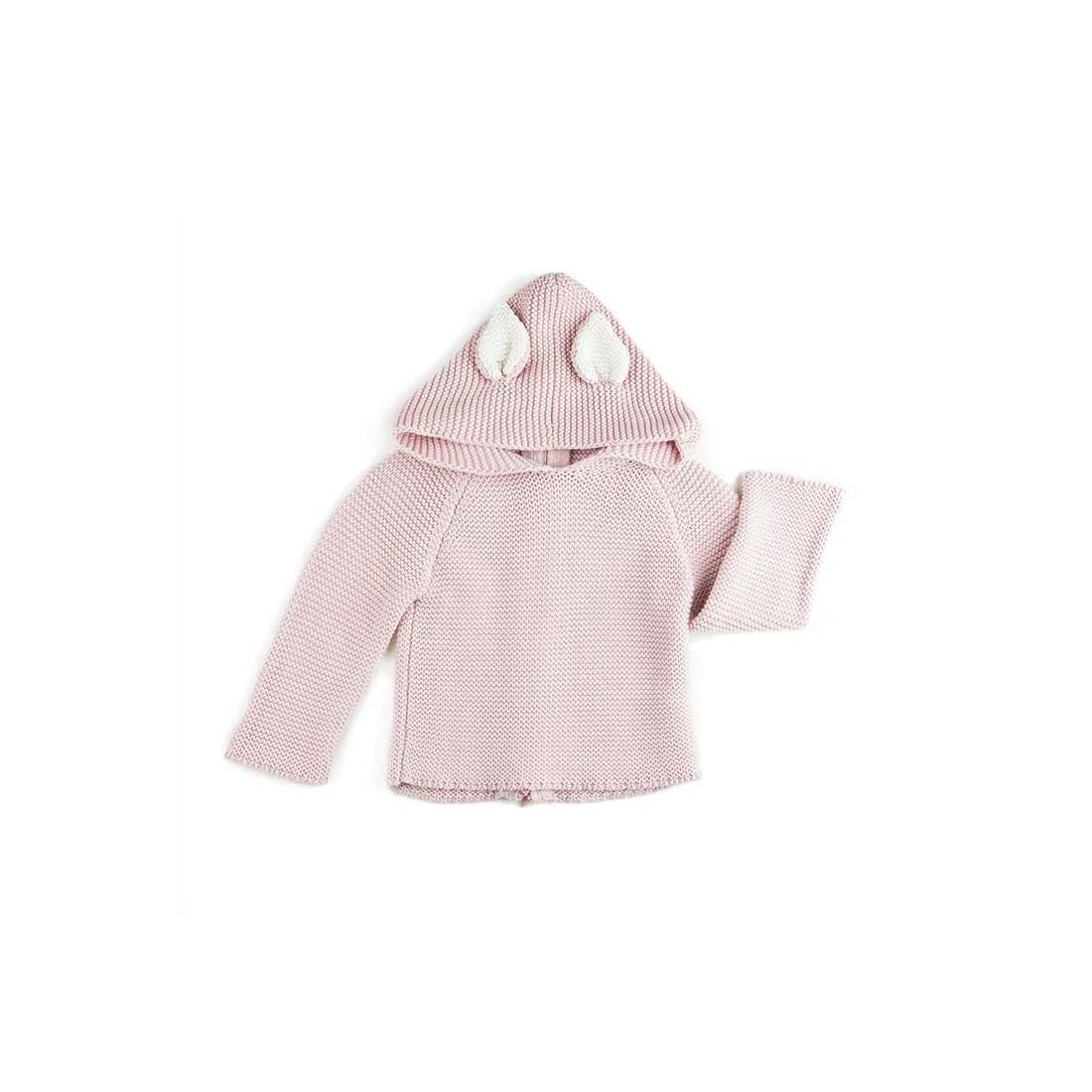 emballage fort 100% de haute qualité belle et charmante Cardigan à capuche - Chat vieux rose - Œuf NYC Taille Age 6 ans