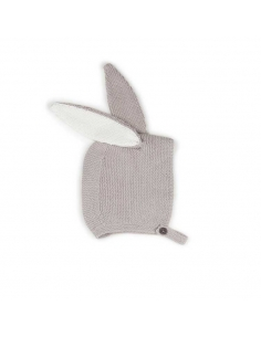 bonnet animal - lapin - gris argent - oeuf nyc