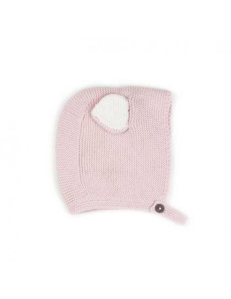bonnet animal - chat - vieux rose - oeuf nyc