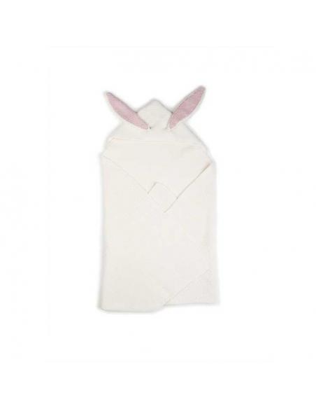 couverture a oreilles de lapin - blanche - oeuf nyc