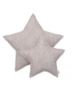 Coussin étoile dentelle, Flower Poudre