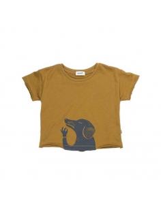 tee-shirt chien moutarde et indigo - oeuf nyc