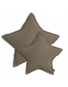 Coussin étoile beige
