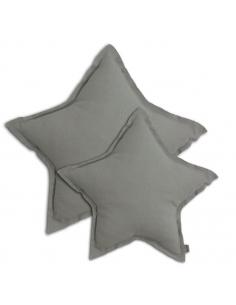 Coussin étoile Gris argent