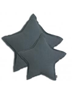 Coussin étoile Gris bleu