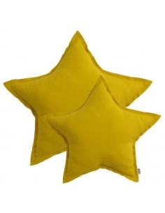Coussin étoile Jaune tournesol