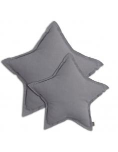 Coussin étoile Stone grey