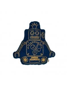 Coussin robot Edd, Bleu nuit.
