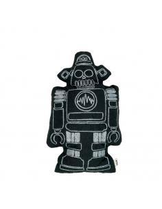 Coussin robot Tux, Noir