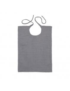 Bavoir carré - Stone grey