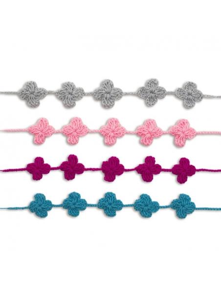 Lot de 4 bracelets en crochet