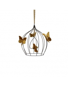 Cage bohémienne et ses oiseaux de velours Gold, small