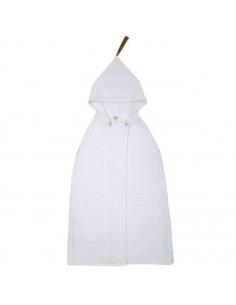 Poncho à capuche, Blanc