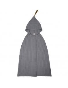 Poncho à capuche, Stone grey