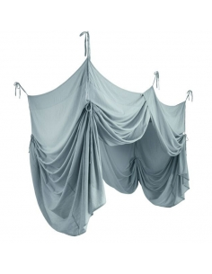 BED DRAPE SINGLE - SWEET BLUE