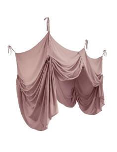 BED DRAPE SINGLE - DUSTY PINK