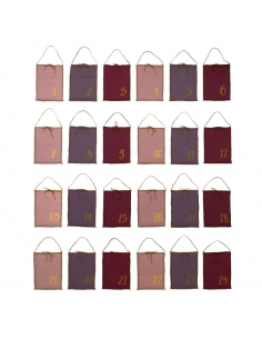 Calendrier de l'Avent, Pochettes tissus Mix Roses