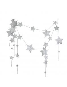 Guirlande d'étoiles, Cascade Gris argent