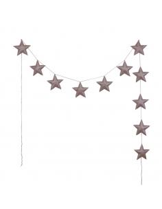 Guirlande d'étoiles scintillantes, Vieux rose