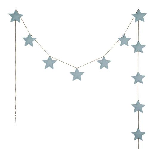 Guirlandes étoiles de coton, Sweet blue