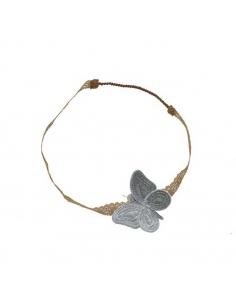 Serre-tête papillon, Gris argent