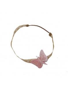 Serre-tête papillon, Vieux rose