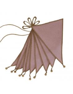 Guirlande de Fanions, Vieux rose